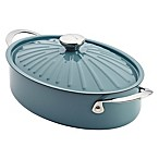 Rachael Ray Cucina™  5 qt. Hard Enamel Covered Oval Sauteuse in Blue