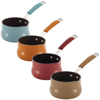 Rachael Ray Cucina 3/4 qt. Hard Enamel Butter Warmer in Orange
