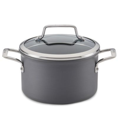 Gray Covered Saucepans