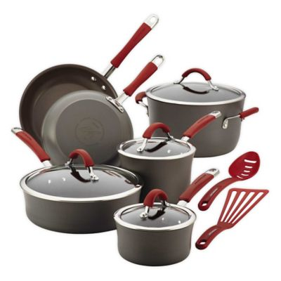 Gray Orange Cookware Set