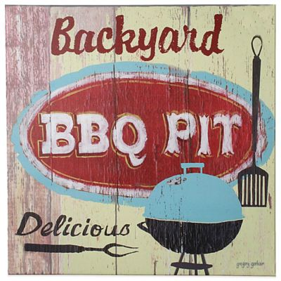 Backyard BBQ Pit Indoor/Outdoor Canvas Art
