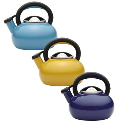 Circulon® Sunrise 1.5 qt. Tea Kettle in Mustard Yellow