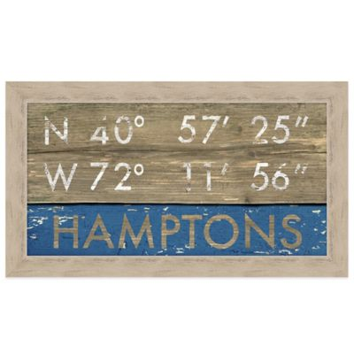 Hamptons Framed Art