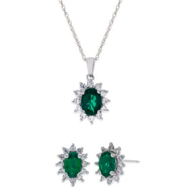 Emerald Earring Set