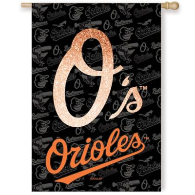 MLB Baltimore Orioles Double-Sided Vertical Glitter Flag