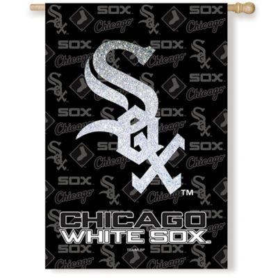 MLB Chicago White Sox Double-Sided Vertical Glitter Flag