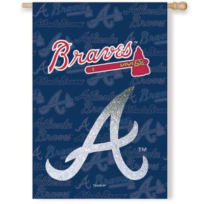 MLB Atlanta Braves Double-Sided Vertical Glitter Flag