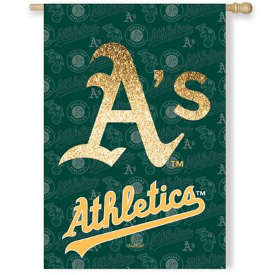 MLB Oakland Athletics Double-Sided Vertical Glitter Flag