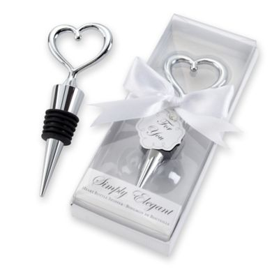 "Kate Aspen® ""Simply Elegant"" Chrome Heart Bottle Stopper"