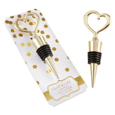 Kate Aspen® Heart of Gold Bottle Stopper