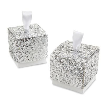 Kate Aspen® Sparkle and Shine Glitter Favor Boxes (Set of 24)