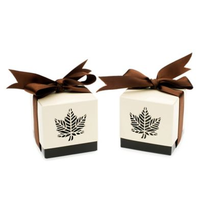 "Kate Aspen® ""Autumn Elegance"" Laser-Cut Fall Leaf Favor Box (Set of 24)"