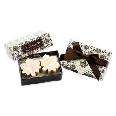 "Kate Aspen® ""Fall in Love"" Scented Leaf-Shaped Soaps (Set of 2)"