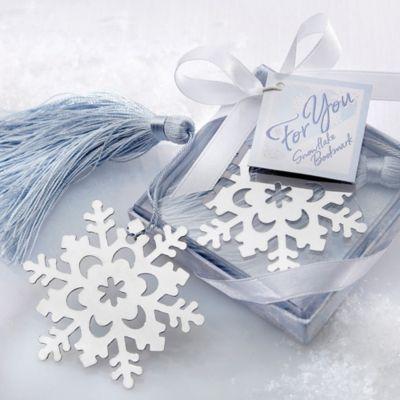 "Kate Aspen® ""Snowflake"" Bookmark in Silver"