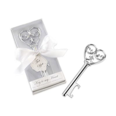Kate Aspen® Simply Elegant Key To My Heart Bottle Opener