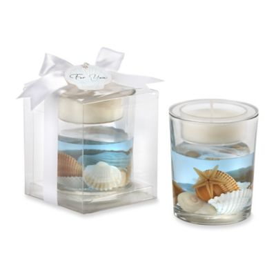 "Kate Aspen® ""Seashell"" Gel Tealight Holder"