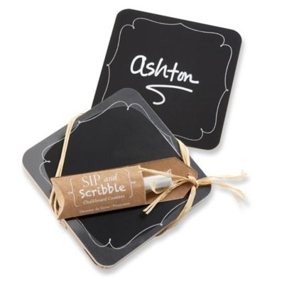 Kate Aspen® Sip And Scribble Chalkboard Coasters (Set of 4)