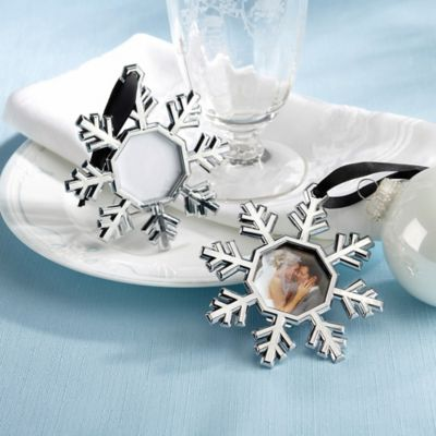 Kate Aspen® Snowflake Place Card Holder/Ornament (Set of 4)