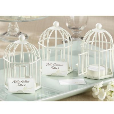 "Kate Aspen® ""Spring Song"" Birdcage Tealight/Place Card Holder"