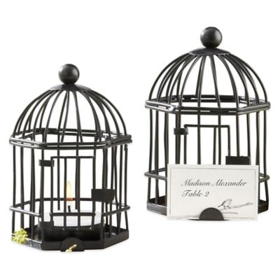 "Kate Aspen® ""Love Songs"" Birdcage Tea Light/Place Card Holder"