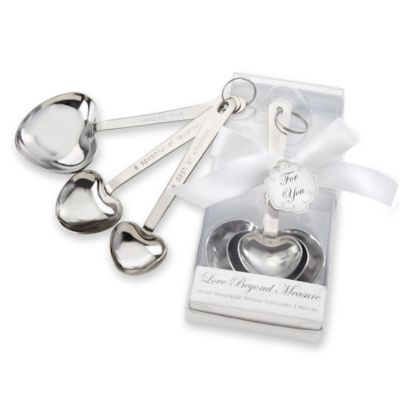 Kate Aspen® 3-Piece Stainless Steel Heart-Shaped Measuring Spoon Set