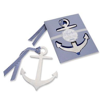"Kate Aspen® ""Anchor"" Nautical Brushed-Metal Bookmark"