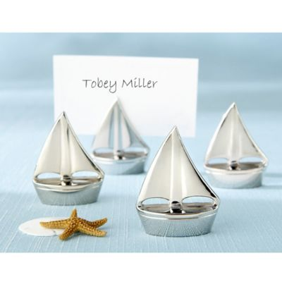 Kate Aspen® Shining Sails Place Card Holders (Set of 4)