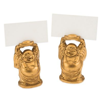 "Kate Aspen® ""Laughing Buddha"" Place Card Holders (Set of 4)"
