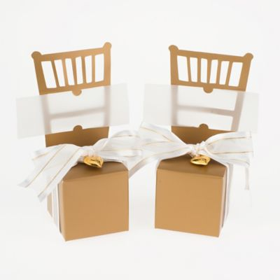 Kate Aspen® Miniature Gold Chair Favor Boxes (Set of 12)