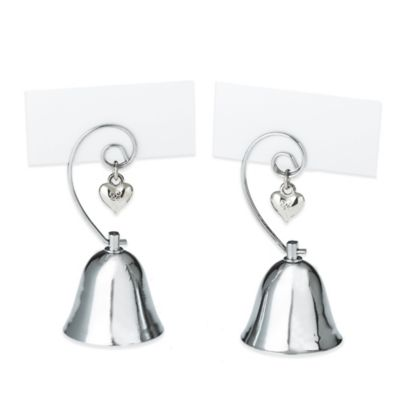 Kate Aspen® Charming Bell Place Card/Photo Holder (Set of 4)