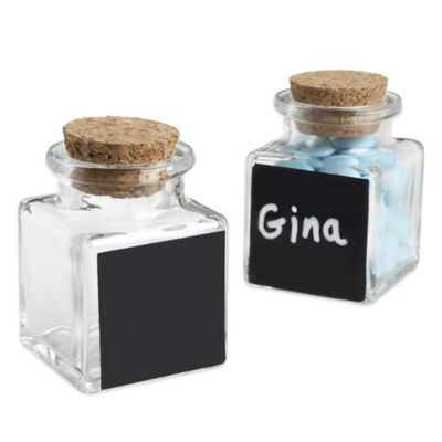 Kate Aspen® Chalkboard Glass and Cork Favor Jars (Set of 12)