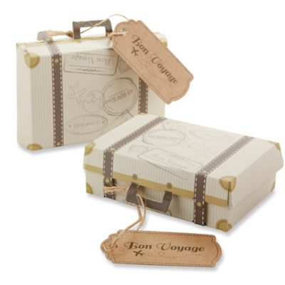 "Kate Aspen® ""Bon Voyage"" Suitcase Favor Boxes (Set of 24)"