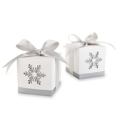 "Kate Aspen® ""Winter Dreams"" Laser-Cut Snowflake Favor Box (Set of 24)"