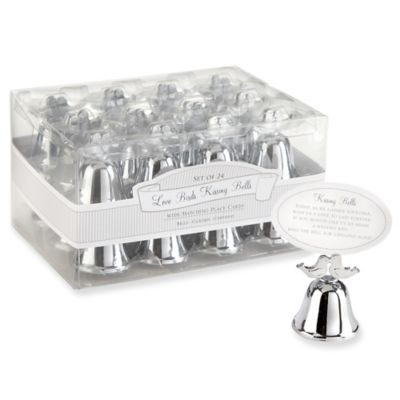 Kate Aspen® Lovebirds Kissing Bell Place Card Holders in Silver (Set of 24)
