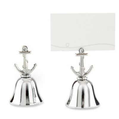 Kate Aspen® Anchor-Topped Kissing Bells in Silver (Set of 24)