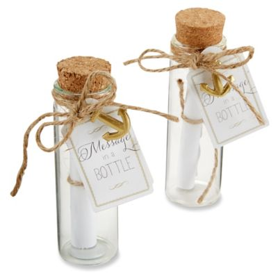 "Kate Aspen® ""Message in a Bottle"" Glass Favor Bottle (Set of 12)"