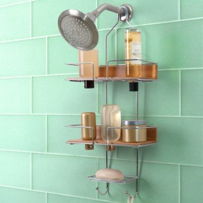 Totally Bath Sleek Bamboo Shower Caddy