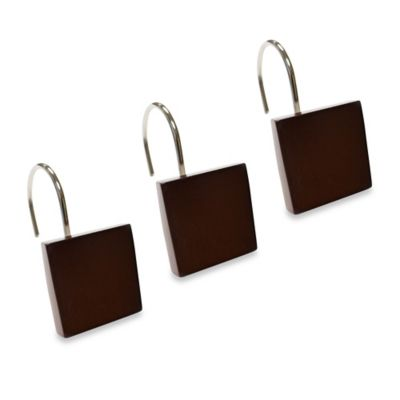 Wild Wood Shower Curtain Hooks (Set of 12)