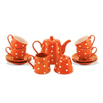 Maxwell & Williams™ Sprinkle Collection Tea for 4 Set in Orange