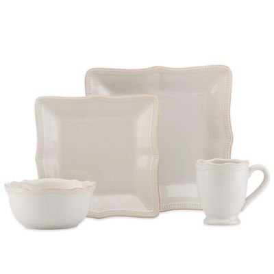 Lenox® French Perle Bead Square 4-Piece Place Setting in White