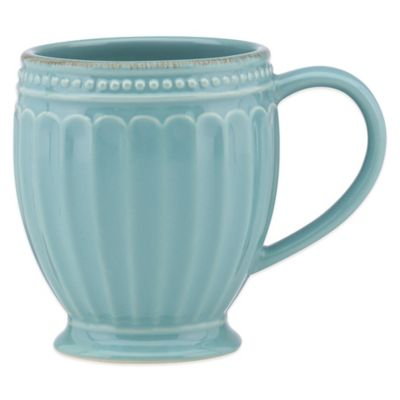 Lenox® French Perle Groove Mug in Robins Egg