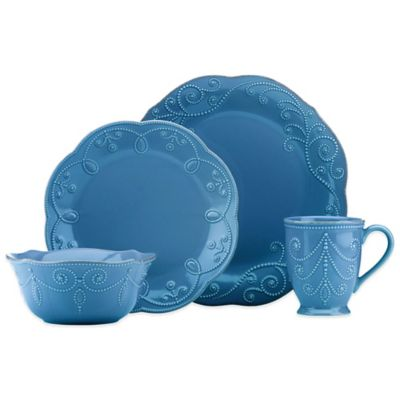 Lenox® French Perle™ 4-Piece Place Setting in Marine Blue