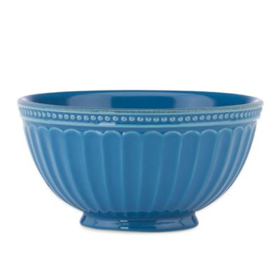 Lenox® French Perle™ Groove All Purpose Bowl in Marine Blue