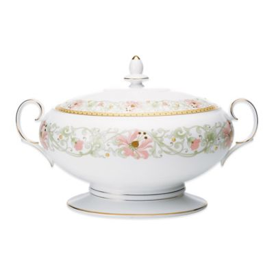 Noritake® Blooming Splendor Covered Vegetable Bowl