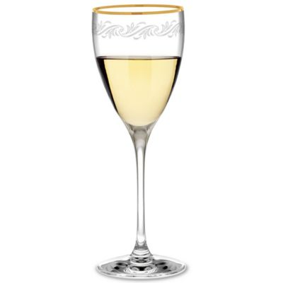 Clear Gold Wine Glasses