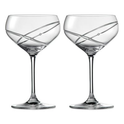 Clear Glass Champagne Saucers