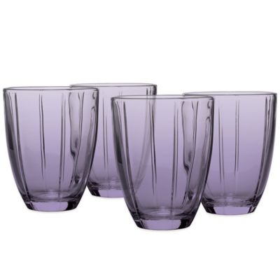 Noritake® Colorwave Glassware Tumblers in Plum (Set of 4)