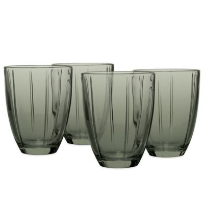 Noritake® Colorwave Glassware Tumblers in Graphite (Set of 4)