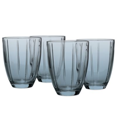 Noritake® Colorwave Glassware Tumblers in Blue (Set of 4)
