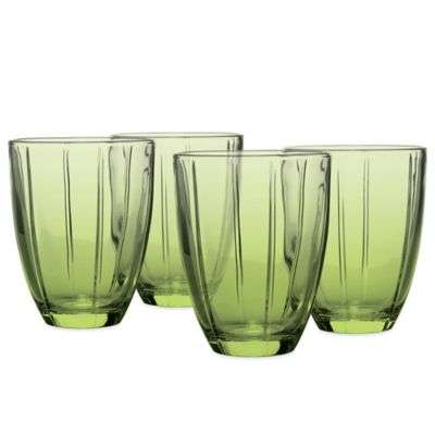 Noritake® Colorwave Glassware Tumblers in Green Apple (Set of 4)